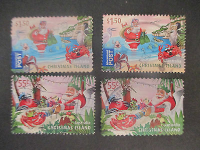 -2011    Christmas  Island Chris;  Issue   4  Stamps  -Used -- A1  -Both  Perf;