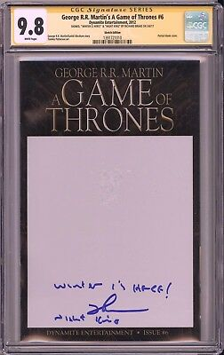 Game of Thrones #1 CGC SS 9.8 Night King actor signed & remarked blank variant