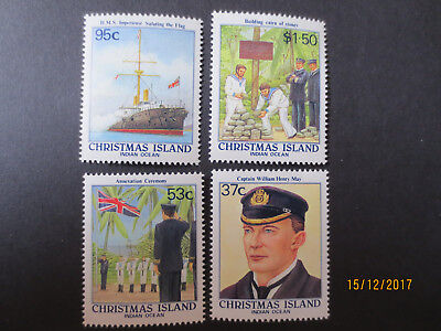 no--1-- 1988  CHRISTMAS  ISLAND ANNEXATION  ANNIV ;    ISSUE'S   4  STAMPS-MINT