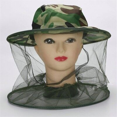 Outdoor Mosquito Resistance Bug Insect Bee Net Mesh Head Face Protector Cap