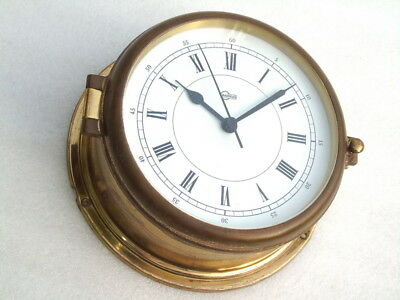 All Brass Barigo Germany Ships Boat Yacht Marine Quartz Clock Deck Watch