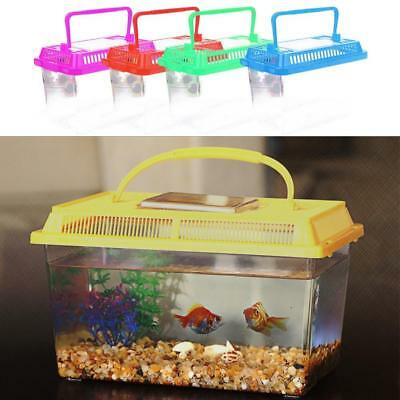 Plastic Starter Aquarium Fish Tank Reptile Insect Goldfish Cage Carry UK