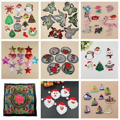 Embroidered Sew Iron On Patches Badge Fabric Bag Clothes Applique Craft DIY POP