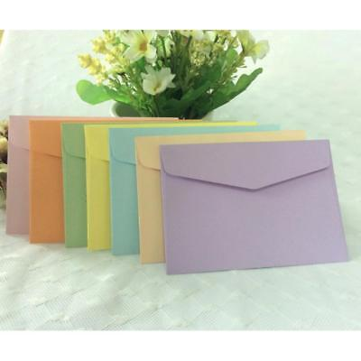 10Pcs Candy Color Paper Envelope Cute Mini Envelopes Vintage European Style #