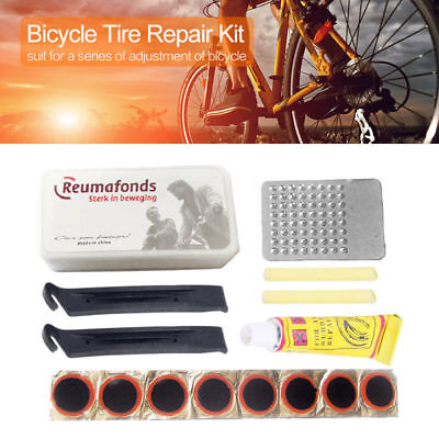 New Bike Bicycle Flat Tire Tyre Repair Tool Kit Rubber Patch Glue Lever Fix Sets