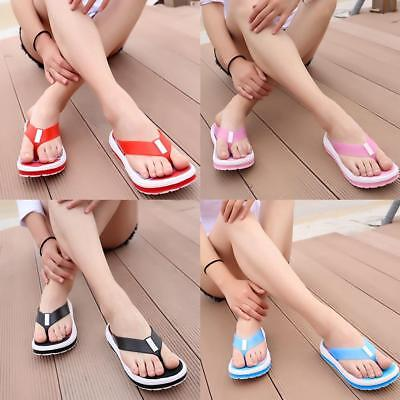9b1279589bc8 Summer Womens Ladies Beach Flip Flops Flat Slippers Massage Sandals Slider  Shoes