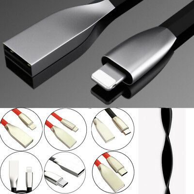 Charging Cable Lightning Type C USB IOS 3.1 Quick Zinc Alloy 3D Data Sync 2.4A