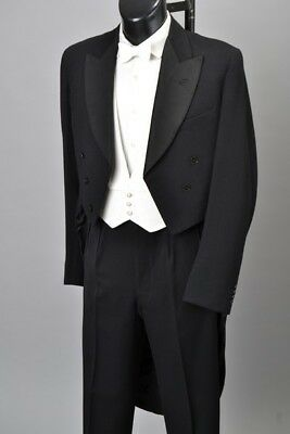 Austin Reed 1959 Tailored White Tie Evening Dress Tailcoat & Trousers. CEI