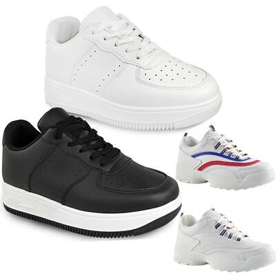Womens White Chunky Trainers Disruptor Sneakers Retro Black Shoes Gym Sport