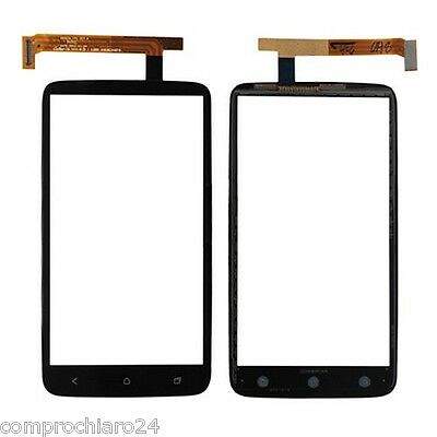 Spare parts Glass + Touch Screen Black for HTC ONE X - NO slide Screen LCD