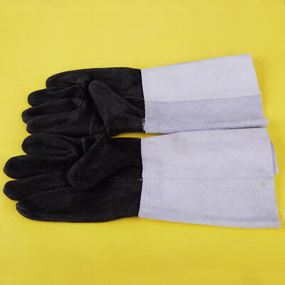 2pcs Welding Cowhide Leather Gloves Heat Shield Cover Guard Safe Protection