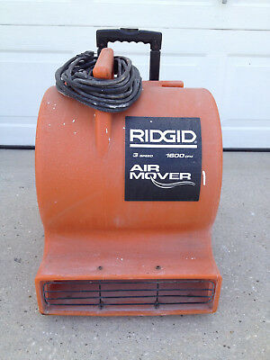 Ridgid 3 Speed Air Mover High Volume Blower Fan 1600CFM AM25500 - LOCAL PICK-UP