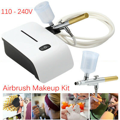 Cake Art Craft Airbrush Compressor Kits Tattoo Nail Painting Spray Gun 25 PSI