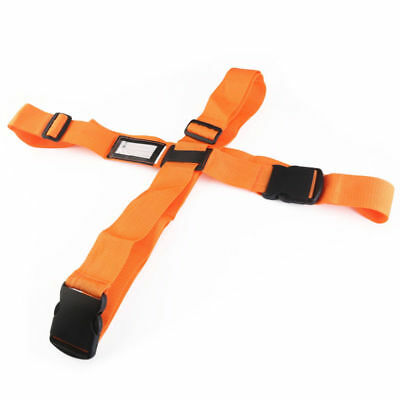 Adjustable Travel Luggage Bag Packing Strap Suitcase Secure Cross Belt Orange