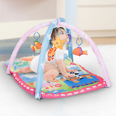 Kids Baby Toddler Play Gym Activity Center Creeping Mat Soft Game Climbing