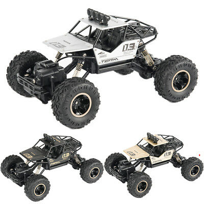 Cool Black 4WD Remote Control Car Truck Off-Road Vehicle 2.4G Buggy Crawler