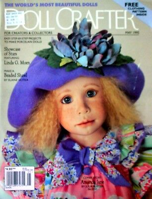 DOLL CRAFTER Magazine - May 1995 with pull-Out Pattern Step-by-step Projects etc