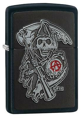 Zippo 29489, Son of Anarchy, Reaper, Emblem, Black Matte Finish Lighter,