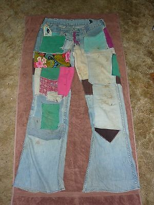 Vintage Colorful Patchwork jeans from 1971 or so. Oh So Kewl and Groovie