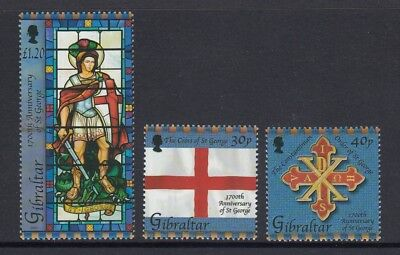 GIBRALTAR 2003 1700th DEATH Anniversary of Saint GEORGE set of 3 to 1.20P - MNH