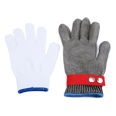 Safety Cut Stab Resistant Stainless Steel Metal Mesh Gloves Grade 5