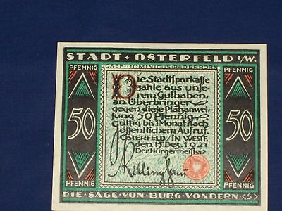German Notgeld.Town of Osterfeld. 50 Pf Issued 1921.N37e