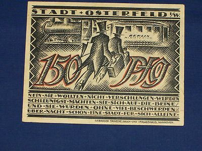 German Notgeld.Town of Osterfeld. 150 Pf Issued 1921.N37a