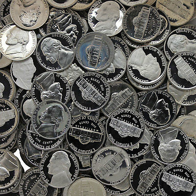 Jefferson Nickel Proof Lot of 120 With Problems Rejects US Coins
