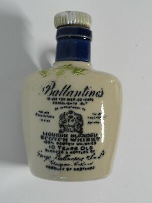 Vintage Ballantine's Scotch Whiskey Miniature Jug w/ Minnesota Liquor Tax Stamp