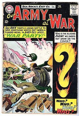 Our Army at War #151 Featuring Sgt. Rock & Intro Enemy Ace, Very Good Condition'