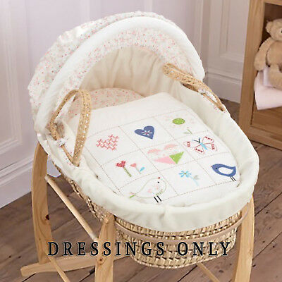 New Bizzi Growin Doodles Palm Baby Moses Basket Dressings Extra Basket Covers