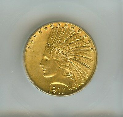 1911-S Indian Head $10 Gold Eagle  Icg Ms63+ Rare This Nice! Only 51,000 Minted!