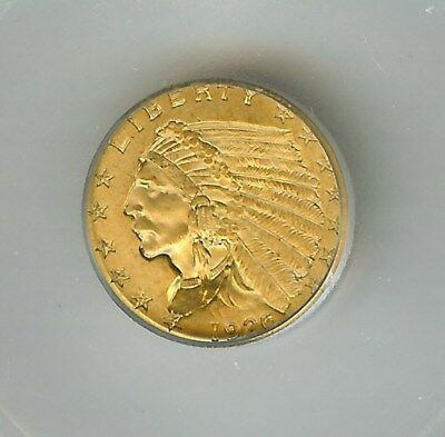 1926 Indian Head $2.5 Gold Quarter Eagle  Icg Ms65+  Scarce This Nice!