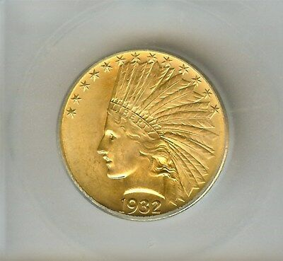 1932 Indian Head $10 Gold Eagle  Icg Ms65+