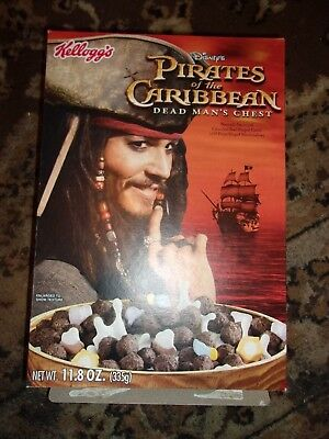 Vintage Pirates of the Caribbean Cereal Box Kellogg's