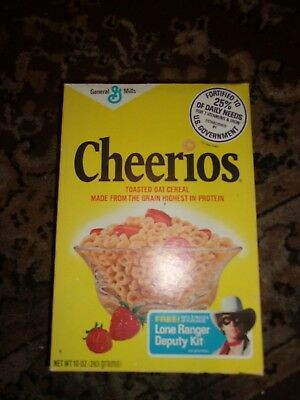 Vintage Cheerios Cereal Box Lone Ranger deputy Kit offer