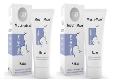 2 x Multi-Mam Balm - Skin Care, nipple care for Breastfeeding Mothers 30ml