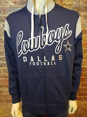 45a1dfcfa NWT NFL DALLAS Cowboys Full Zip Up Hoodie Hooded Sweatshirt Mens M ...