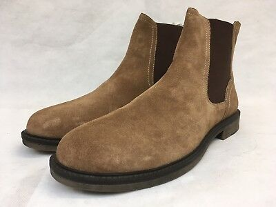 Redfoot Men's Tan/Brown Suede Feel Slip on Boots. UK 8.