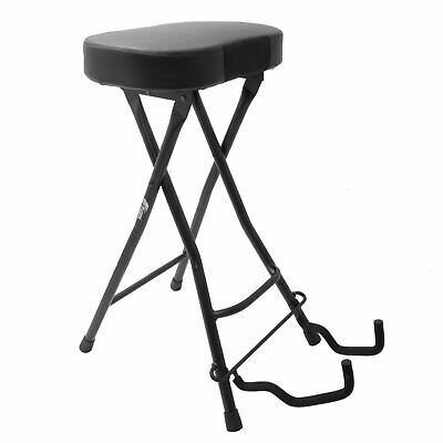 Guitar Stool and Stand - Guitarist's Dual Stool with padded seat