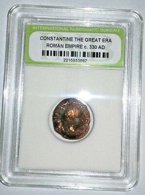Slabbed Ancient Imperial Roman Constantine the Great Coin - c 330 AD #7