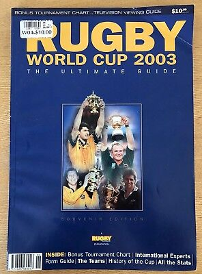 Rugby World Cup 2003 The Ultimate Guide Magazine - Rare Collectable