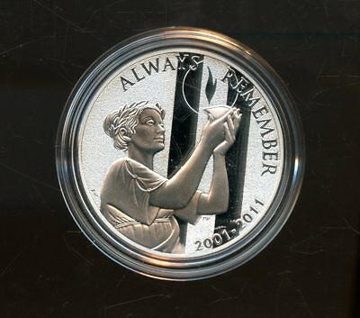 Proof 2011 United States 1 oz Silver September 11th National Medal w/ CoA FE595
