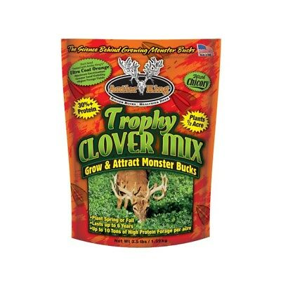 Antler King Trophy Clover Mix Food Plot Seed Ladino clover, White clover & more
