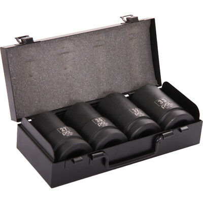 """PCL 1"""" Deep Impact Socket Set 4-Piece For a 1"""" Drive Impact Wrench APA40"""