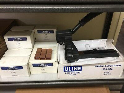 Uline Manual Stapler H-1026 with 11 boxes S-1396 3/4