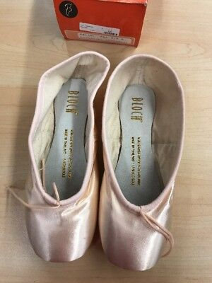 Bloch S0168L Women/'s 4.5 B Pink Satin Signature Rehearsal Pointe Shoes NEW