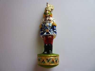Christopher Radko Christmas Toy Soldier Gold Hat Ornament