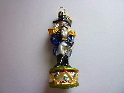 Christopher Radko Christmas Toy Soldier Black Hat Ornament