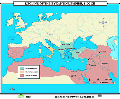 132 Decline of the Byzantine Empire, 1100 CE